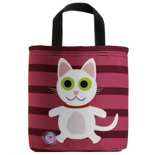 white-kitty-cat-feline-stripes-yarn-ball-eco-kids-totes